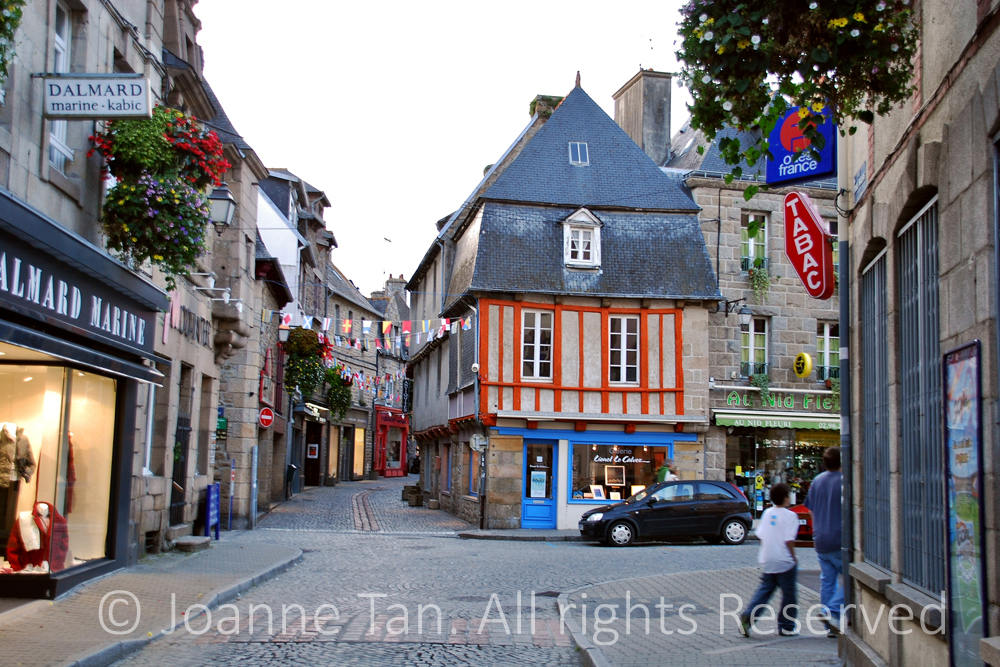 architecture – Streetscape -French Old Streets, Paimpol, Brittany, France