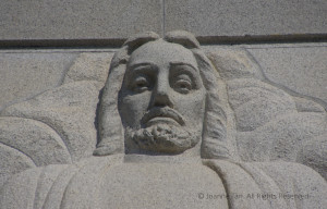 Sculpture – The Face of Jesus Christ – LDS Oakland Temple, CA