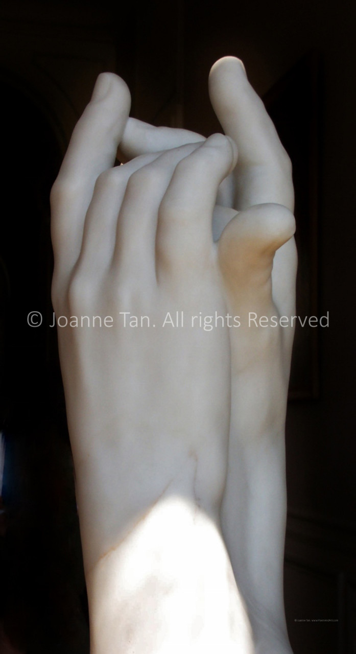 p - Sculpture - Marble Hands by Rodin